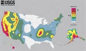 earthquake map  america
