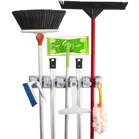 Broom Mop Organizer Rack by Spoga Wall Mounted Mop Broom And Sports Equipment Storage Organiser Home Kitchen