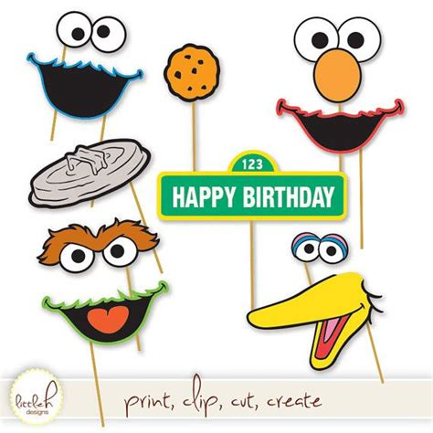 printable photo booth props oscar 1000 images about sesame street party matteo on