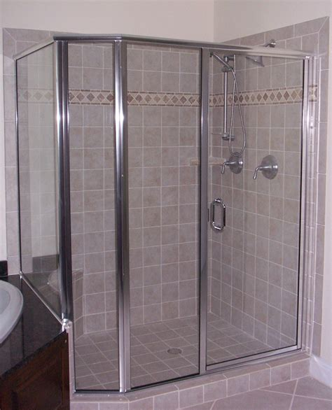 framed glass shower doors framed semi frameless shower door king shower door