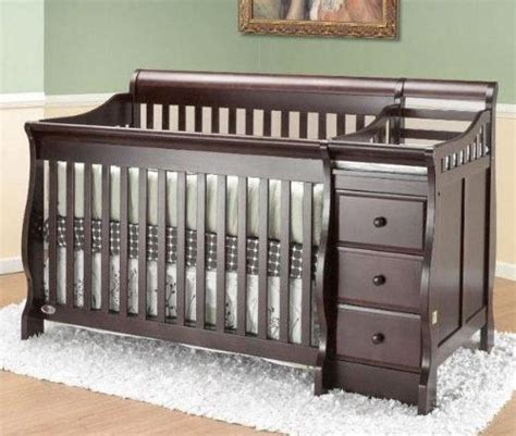 Changing Table Attached To Crib Cribs With Attached Changing Table Crib N Bed With Changer Espresso Espresso 69