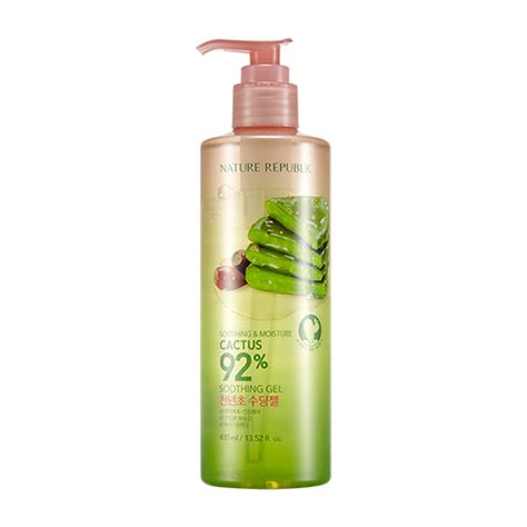 Nature Republic Soothing Moisture Cactus 92 Soothing Gel 250ml nature republic soothing moisture cactus 92 soothing