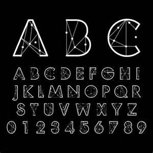 number and alphabet creative design vectors 02 vector
