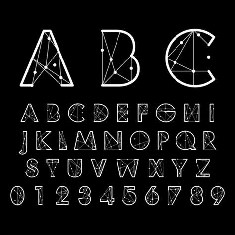creative font design online number and alphabet creative design vectors 02 vector