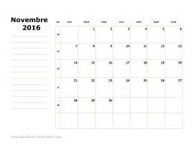 Calendrier Novembre 2016 Calendrier Novembre 2016 Avec Jours Feries