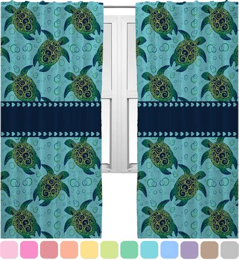 turtle curtains sea turtles curtains 40 quot x54 quot panels lined 2 panels