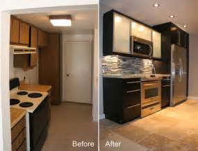 before amp after small kitchen remodels modern kitchens