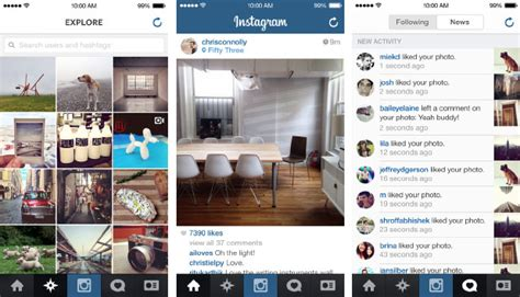 instagram design for today instagram refreshed for ios 7 with larger images and