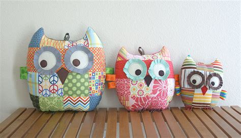 Patchwork Owl - my growing family of patchwork owls angie s studio