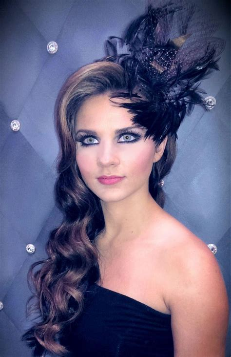 hairdos worn up vintage glamorous hairstyles with designer fascinator