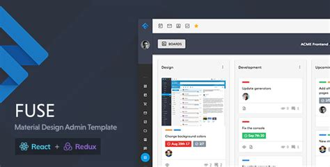 Fuse React Redux Material Design Admin Template By Withinpixels Themeforest React Website Templates