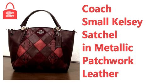 Coach Kelsey Small Patcwork coach small kelsey satchel in metallic patchwork leather