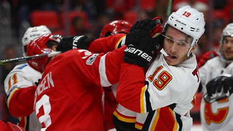 flames matthew tkachuk gets one ban for starting