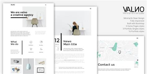 clockworklives portfolio page layouts valno minimal creative multi page portfolio wordpress