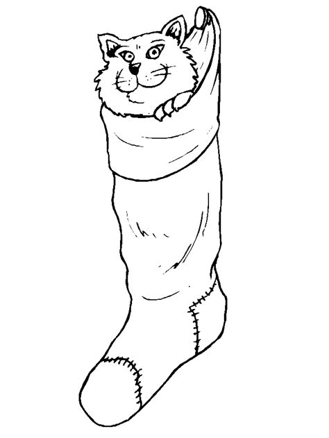 cute stocking coloring page christmas stocking templates kids coloring