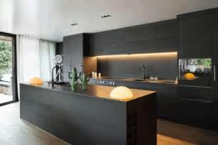 contemporary matte black kitchen cabinet smooth black rock
