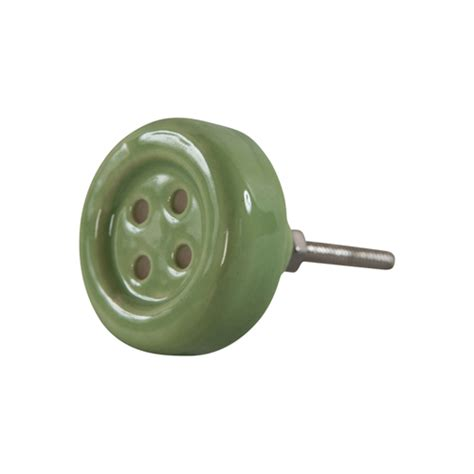 button ceramic door knob available in 4 colours