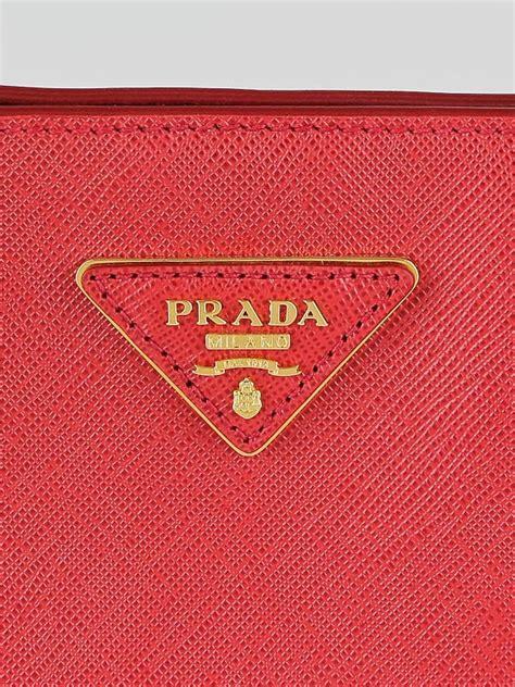 Preloved Authentic Original Prada Saffiano Bn1844 In Fuoco prada fuoco saffiano leather tote bag bn1844 yoogi s closet