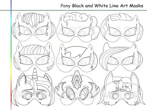 printable mask my little pony 7 best images of my little pony template printables my