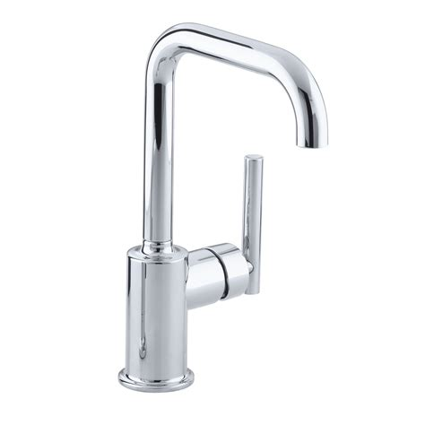 restaurant kitchen faucets kohler k 7509 purist single handle bar faucet secondary swing spout without spray homeclick
