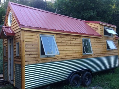 tiny house siding 210 sq ft little foot tiny house on wheels