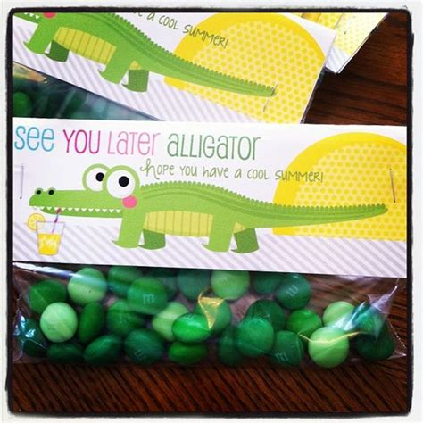 new year treats for school see you later alligator end of school year treat it s a