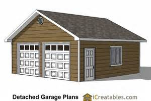 Plans For A 25 By 25 Foot Two Story Garage by 24x24 Garage Plans 2 Car Garage Plans 2 Doors