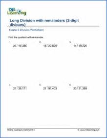 grade 5 multiplication amp division worksheets free