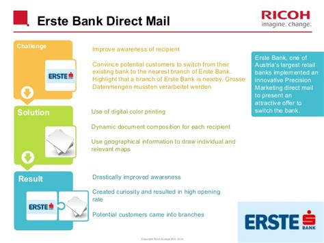 erste bank sperrhotline precision marketing by ricoh for demeter