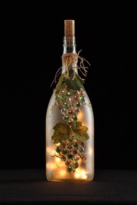 wine bottle crafts   Bottle De Lites   Designs and Crafts