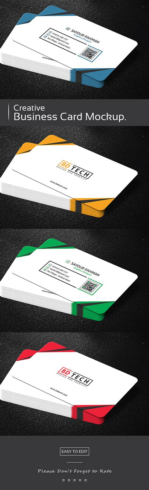 https www behance net gallery 23501915 creative business card template freebie creative business card mockup free on behance