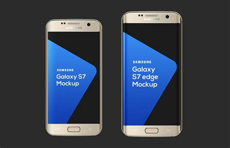 3 Samsung S7 Samsung Galaxy S7 S7 Edge Mockup Medialoot