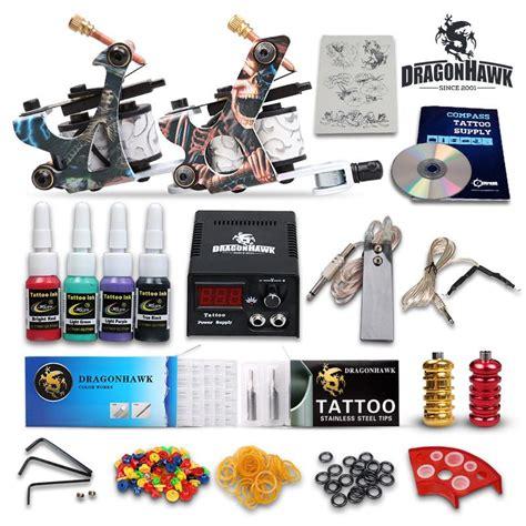 tattoo equipment prices complete tattoo kits 2 gun machines ink sets power supply
