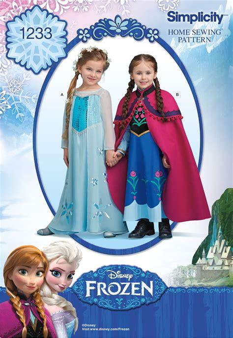 pattern dress frozen simplicity 1233 disney s frozen costume for children