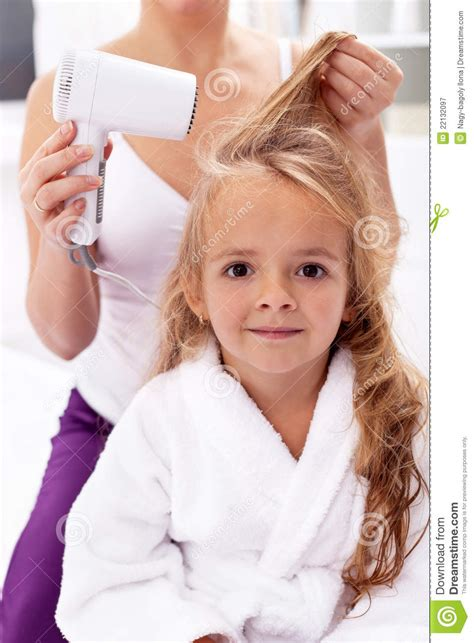 lesson plan for teaching how to blowdry hair drying hair personal hygiene royalty free stock