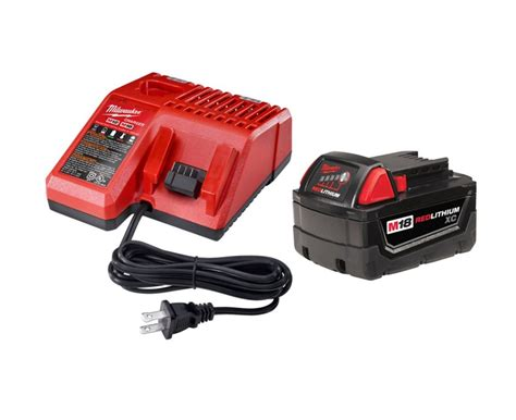 milwaukee tool m18 battery charger and battery pack the