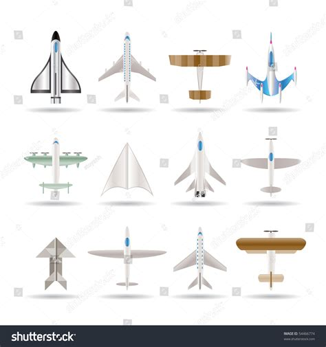 How To Make Different Types Of Paper Airplanes - different types of plane icons vector icon set
