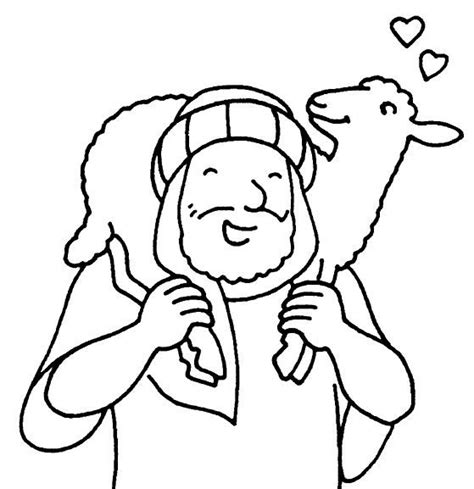 coloring page of jesus and sheep the good shepherd bible coloring pages coloring pages of
