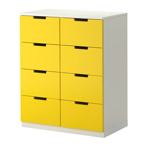 nordli 8 drawer dresser yellow white ikea