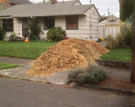 wood chip backyard chip drop free service connects gardeners and arborists