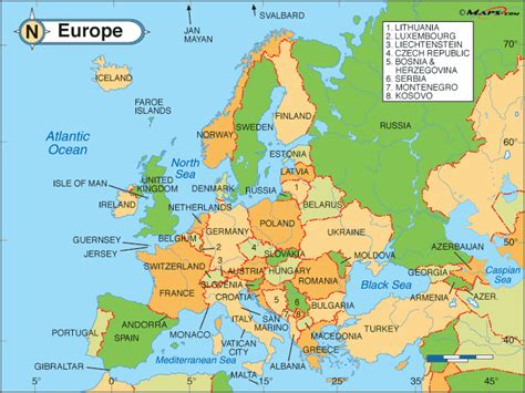 Countries In Europe Map by Europe Map Map Pictures