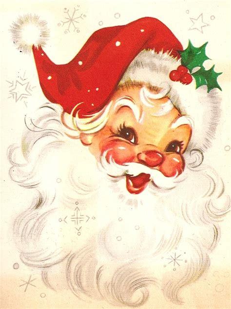vintage christmas a real santa here comes santa claus pinterest