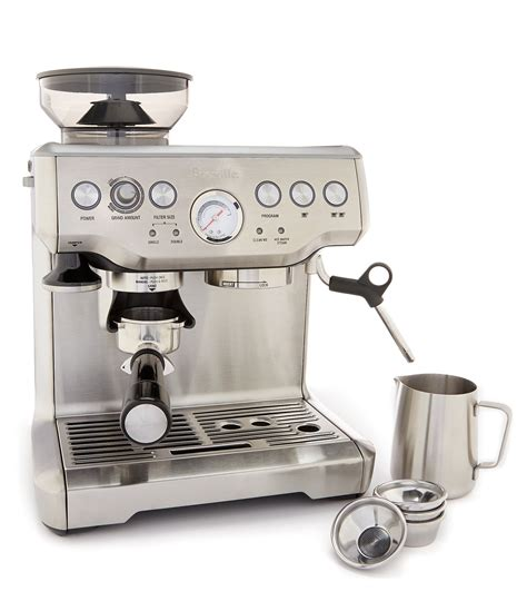 dillards kitchen appliances breville the barista express bean grinder espresso machine