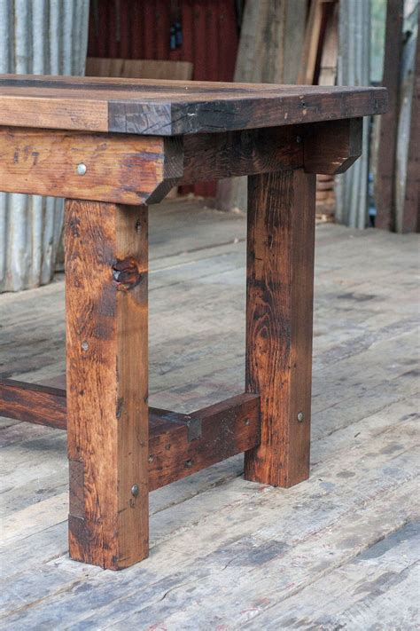 rustic kitchen island table rustic industrial vintage style timber work bench or desk