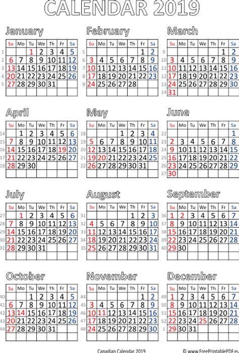 printable calendar   canada  printable