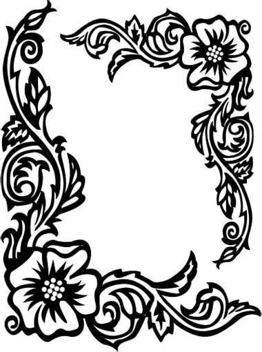 Rose Border Coloring Page | 1382 best border and corner designs images on pinterest