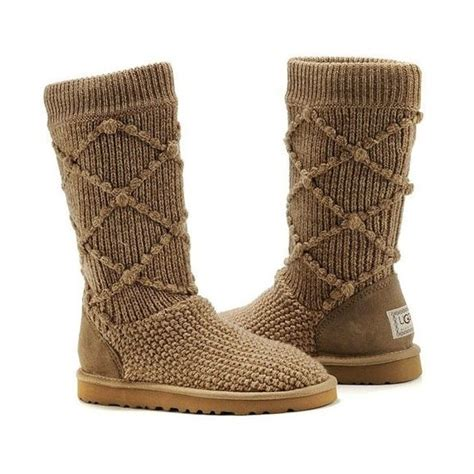 Ugg Classic Argyle Knit Boots 5879 Brown P Pin By Shelly Newairjordanforyou On Fashion Nike Sneaker