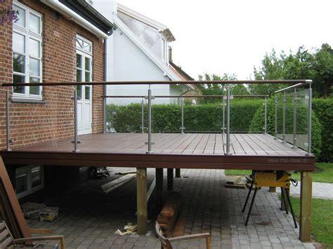 terrasse mit geländer great indretning