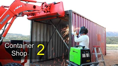 motorola container shop youtube shipping container shop part 2 doors foundation blocks