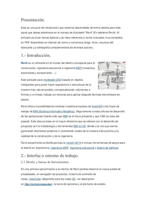 tutorial de revit 2015 en español pdf tutorial revit